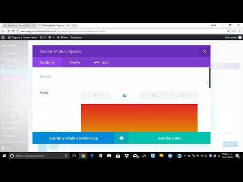 ¿Cómo cambiar el color de fondo de una sección con Divi en WordPress?