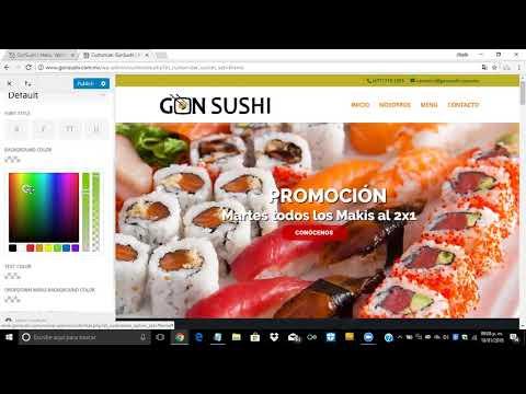 ¿Cómo cambiar el color de fondo del menú secundario en WordPress?